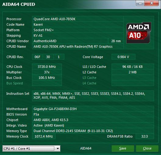 Проверка aida64 CPU