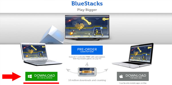 Использование BlueStacks
