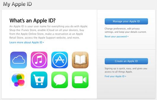 Сервисы для использования Apple ID