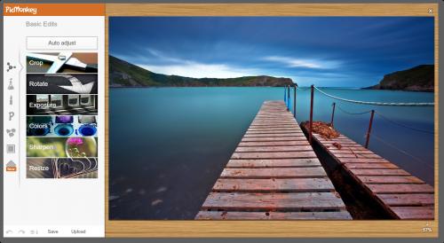 Скриншот интерфейса Picmonkey