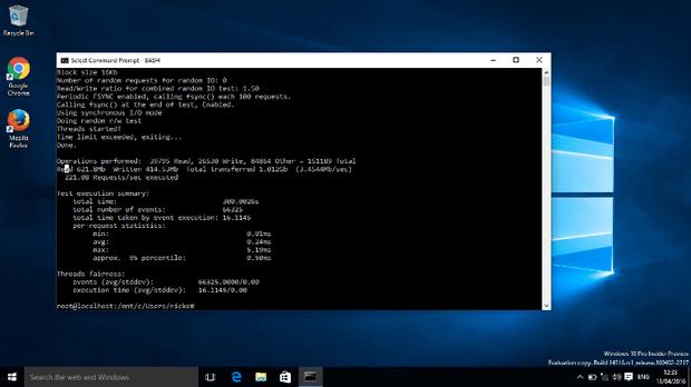 Оболочка Ubuntu Bash доступна в Windows 10