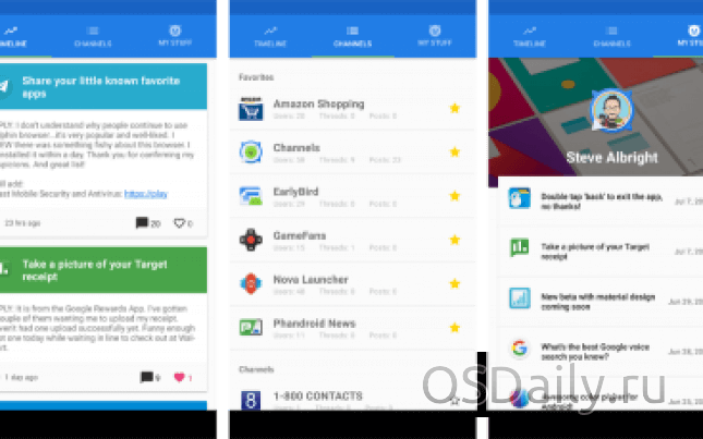 Channels – Forums for Android