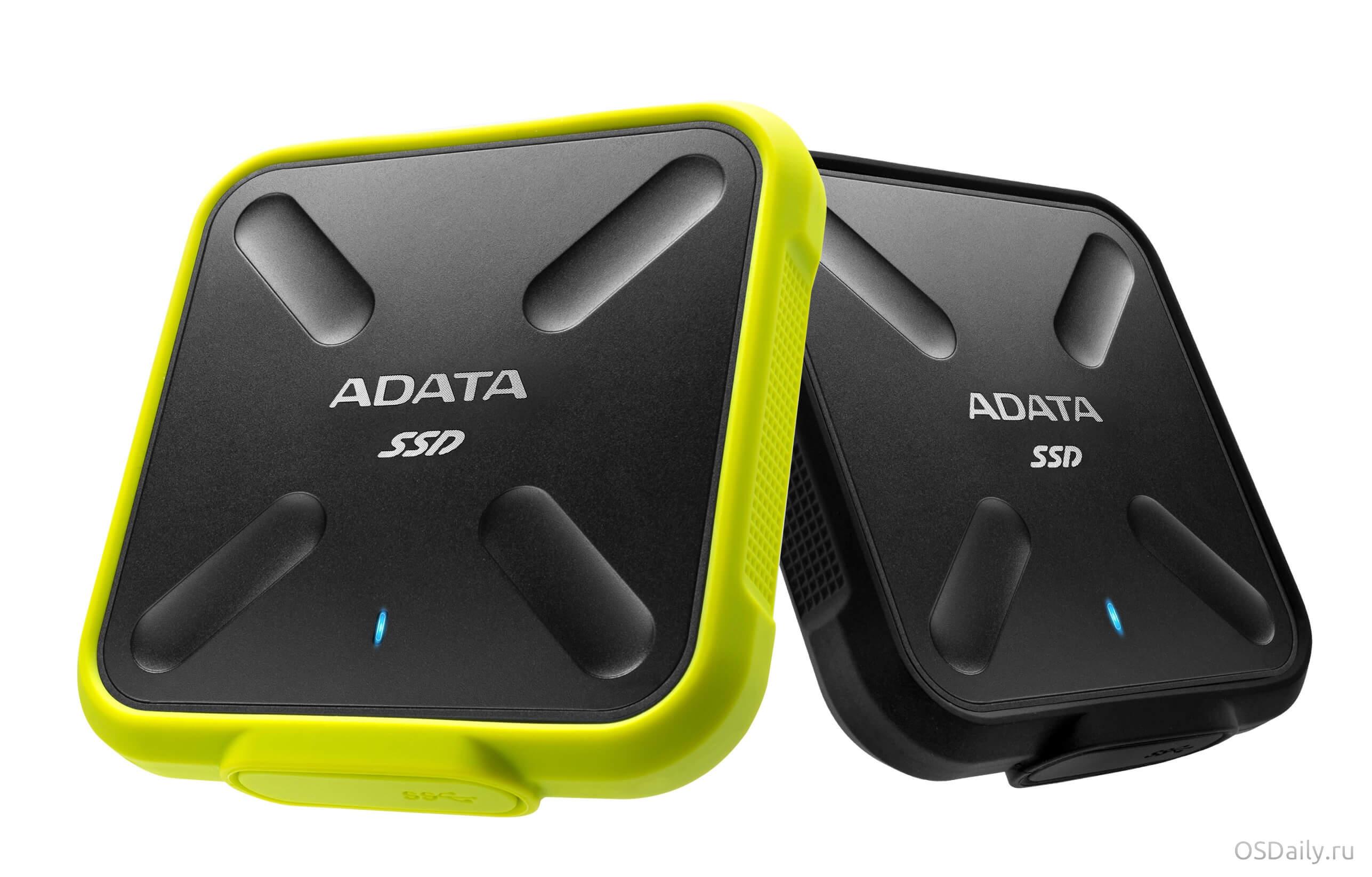 Компания ADATA представила SD700 Durable External прочный внешних 3D NAND корпус для SSD накопителя