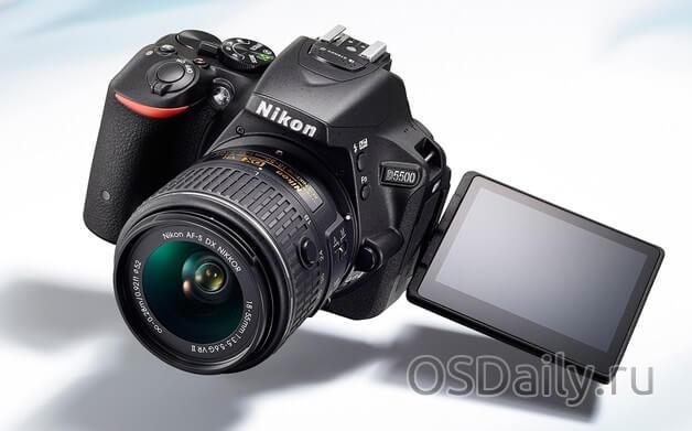 Новая фотокамера Nikon D5600 с 24МП и APS-C сенсором