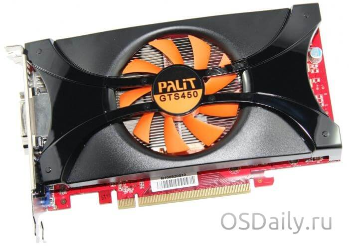 Характеристики видеокарты GeForce GTS 450