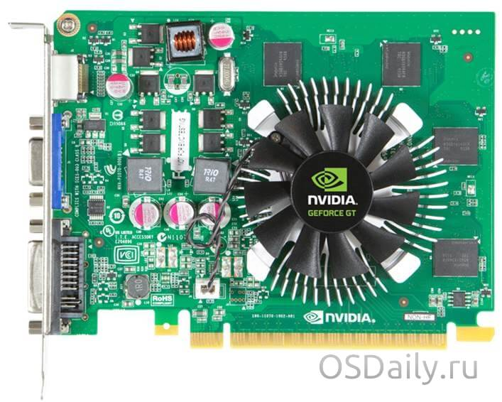 Характеристики видеокарты NVIDIA GeForce GT 630